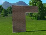 Modern Brick Wall 4m Station Surround 1