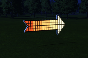 Cutout 4 - Pixel Arrow at night