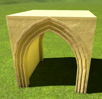 Stucco Pointed Arch Tunnel | Planet Coaster Wiki | FANDOM