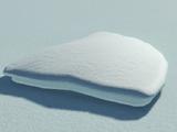 Artificial Snow - 4m by 4m Quarter Circle Top Surface
