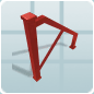 Planet Coaster - Iron Scaffolding Wall 4m Support icon