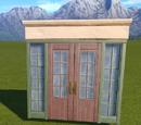 Wooden Double Door - Entrance 1
