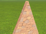 Rough Brick Wall 4m Gable End