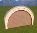 Classic Brick Wall Top Round Arch