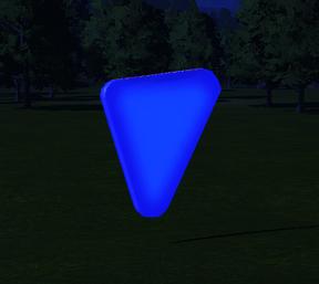 Cutout 9 - Triangle at night