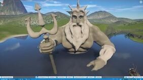 Planet Coaster - Sculpting King Triton (The Little Mermaid)