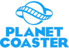 Planet Coaster logo blue