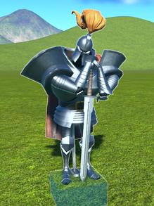 Knight Guarding - has fallen asleep