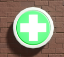 Planet Coaster Sign - First Aid Plate Sign
