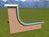 Classic Brick Wall Top Large Corner