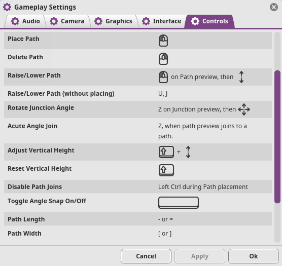 Planet Coaster Gameplay Settings Path Controls