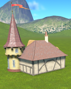 Fairytale Village Toilets back side