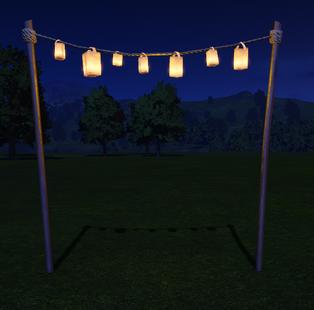 Lantern Chain lit