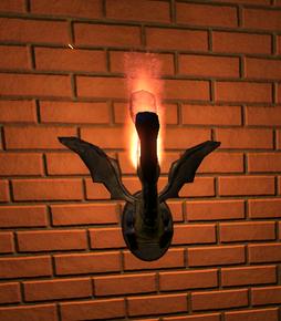 Dragon Lamp at night - Planet Coaster