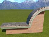 Classic Brick Wall Top Half Round Arch Left