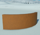 Gingerbread Curved Wall 2m