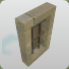 Sandstone Barred Window Rectangle icon