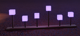 Planet Coaster - Square Lamp Strip in purple