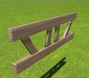 Wooden Beam Framework - Angled