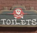 Pirate Sign Original - Toilet Wooden