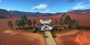 Desert theme - Planet Coaster