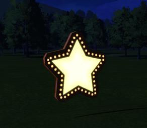 Cutout 6 - Star at night