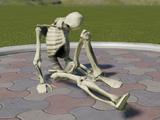 Spooky Skeleton Animatronic Slumped