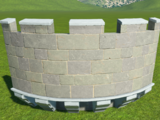 Castle Curved Wall Parapet Extension