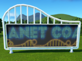 Planet Coaster Sign - Electronic Screen