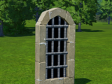 Sandstone Barred Window - Arch
