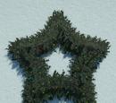 Holly Wreath - Star Large