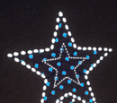 Festive Sign - Wall Sign Falling Star Lit