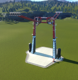 Planet Coaster - Hammer Swing in full swing