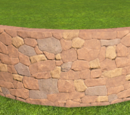 Rough Brick Curved Wall 2m