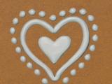Gingerbread Icing - Heart Bead