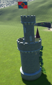 Fairy Tower back side - Planet Coaster