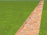 Rough Brick Wall 4m Slope