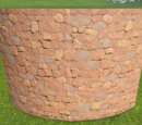 Rough Brick Curved Wall 4m