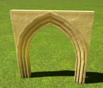 Stucco Pointed Arch | Planet Coaster Wiki | FANDOM powered