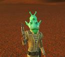 Trooper Guarding - Green Alien