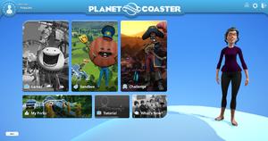 Planet Coaster Menu 2