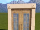 Wooden Double Door - Entrance 2