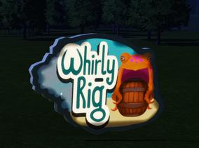 Ride Sign - Whirly Rig at night