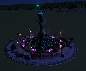 Planet Coaster - Magic Twirl at night