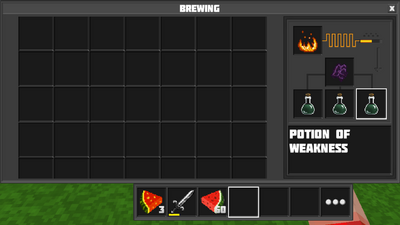Potion of weakness br