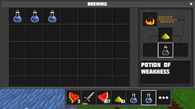 Potion of weakness reverted