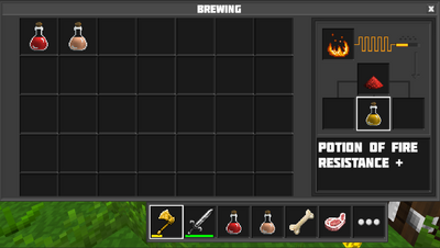 Brewing potion of fire resistance
