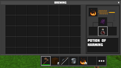 Brewing potion of harming