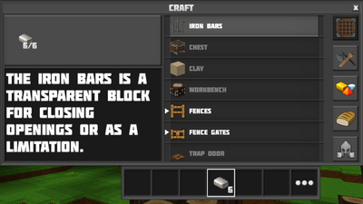 Crafting iron bars