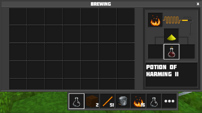 Brewing potion of harming II